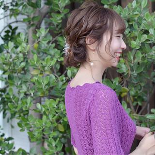 ギブソンタック 上品 大人かわいい 結婚式 ヘアスタイルや髪型の写真・画像