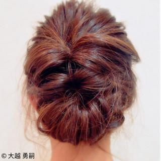 ヘアアレンジ 編み込み 大人女子 くるりんぱ ヘアスタイルや髪型の写真・画像