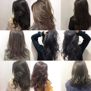前髪あり ナチュラル ミルクティー アッシュ ヘアスタイルや髪型の写真・画像