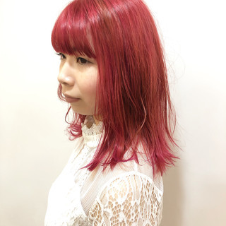 ピンクバイオレット ラベンダーピンク ベリーピンク ピンク ヘアスタイルや髪型の写真・画像