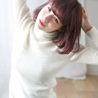 レッド ストリート 外国人風カラー ボブ ヘアスタイルや髪型の写真・画像