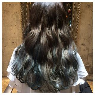 アッシュ 外国人風 グラデーションカラー ハイライト ヘアスタイルや髪型の写真・画像