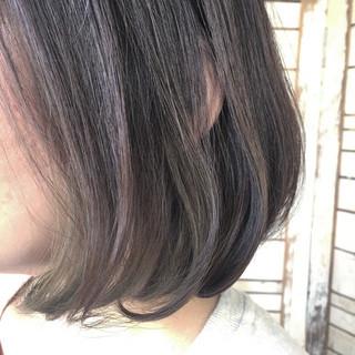 ナチュラル ボブ 透明感 艶髪 ヘアスタイルや髪型の写真・画像
