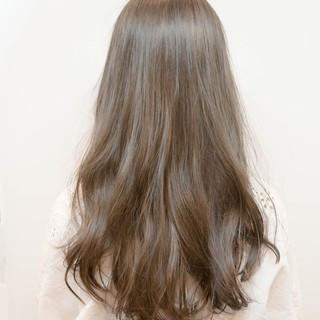 外国人風 ブルージュ フェミニン グレージュ ヘアスタイルや髪型の写真・画像