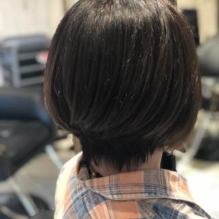 ナチュラル グレージュ 透明感 ショート ヘアスタイルや髪型の写真・画像