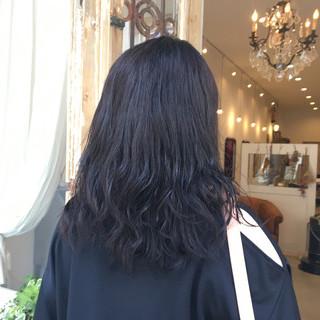 夏 ミディアム 暗髪 春 ヘアスタイルや髪型の写真・画像