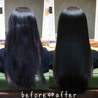 髪質改善 縮毛矯正 ナチュラル ロング ヘアスタイルや髪型の写真・画像