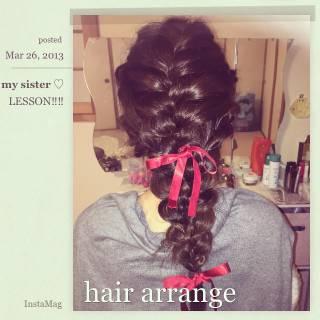 モテ髪 ディズニー コンサバ ヘアアレンジ ヘアスタイルや髪型の写真・画像