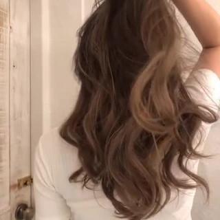 外国人風 外国人風カラー グラデーションカラー ロング ヘアスタイルや髪型の写真・画像