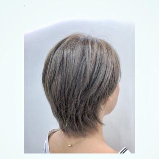 透明感 デート モード グレージュ ヘアスタイルや髪型の写真・画像