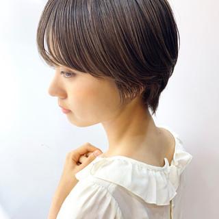 デート 大人可愛い マッシュショート ハンサムショート ヘアスタイルや髪型の写真・画像