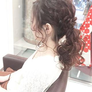 ゆるふわ ヘアアレンジ 大人かわいい フェミニン ヘアスタイルや髪型の写真・画像