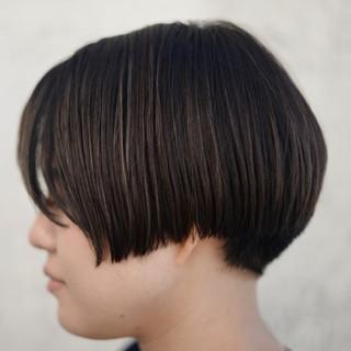 黒髪 外国人風 ボブ ショート ヘアスタイルや髪型の写真・画像