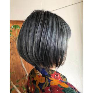 ボブ グレージュ モード ショートボブ ヘアスタイルや髪型の写真・画像