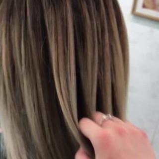 ヘアアレンジ ナチュラル ミディアム アウトドア ヘアスタイルや髪型の写真・画像