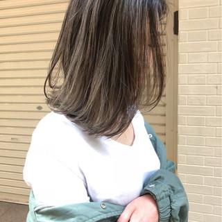 ハイライト 外国人風 3Dカラー ボブ ヘアスタイルや髪型の写真・画像