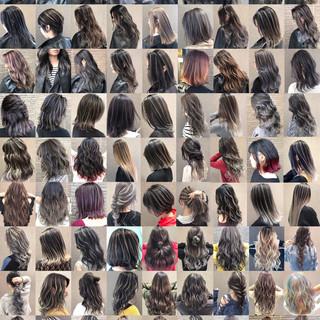 ストリート バレイヤージュ ロング 3Dハイライト ヘアスタイルや髪型の写真・画像