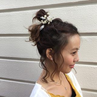 ショート ヘアアレンジ ルーズ フェミニン ヘアスタイルや髪型の写真・画像