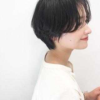 ショート デート オフィス ヘアアレンジ ヘアスタイルや髪型の写真・画像