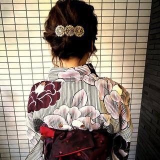 花火大会 上品 夏 デート ヘアスタイルや髪型の写真・画像