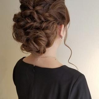 ヘアアレンジ 結婚式 成人式 エレガント ヘアスタイルや髪型の写真・画像