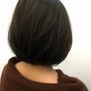 パーマ オフィス ボブ デート ヘアスタイルや髪型の写真・画像