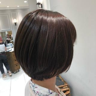大人かわいい ブルージュ 髪質改善トリートメント ショートボブ ヘアスタイルや髪型の写真・画像