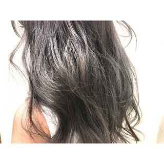 グラデーションカラー 大人かわいい セミロング ストリート ヘアスタイルや髪型の写真・画像