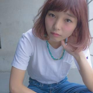 ローライト 外国人風 ボブ ハイライト ヘアスタイルや髪型の写真・画像