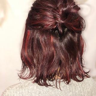 簡単ヘアアレンジ 大人女子 ショート ナチュラル ヘアスタイルや髪型の写真・画像