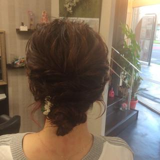 ヘアアレンジ ナチュラル 結婚式 簡単ヘアアレンジ ヘアスタイルや髪型の写真・画像