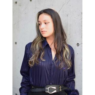 モード ハイライト 外国人風カラー ロング ヘアスタイルや髪型の写真・画像
