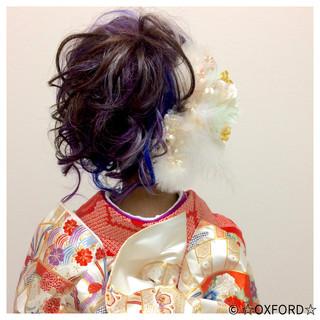ロング 振袖 ガーリー アップスタイル ヘアスタイルや髪型の写真・画像