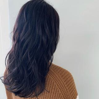 デート 暗髪女子 オフィス 暗髪 ヘアスタイルや髪型の写真・画像