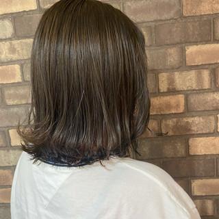 イルミナカラー 艶髪 外ハネボブ 透明感 ヘアスタイルや髪型の写真・画像