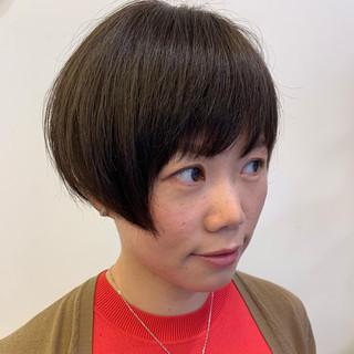 ボブ ショートヘア 切りっぱなしボブ ベリーショート ヘアスタイルや髪型の写真・画像