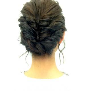 波ウェーブ ヘアアレンジ コンサバ アップスタイル ヘアスタイルや髪型の写真・画像