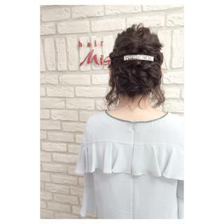 簡単ヘアアレンジ ショート 編み込み ヘアアレンジ ヘアスタイルや髪型の写真・画像