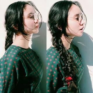 簡単ヘアアレンジ ロング ナチュラル ショート ヘアスタイルや髪型の写真・画像