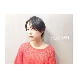 アッシュ ナチュラル ネイビー パープル ヘアスタイルや髪型の写真・画像