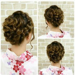 大人かわいい 編み込み 結婚式 ヘアアレンジ ヘアスタイルや髪型の写真・画像