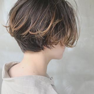 抜け感 モード ハンサムショート ショート ヘアスタイルや髪型の写真・画像