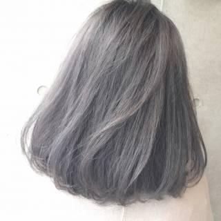 モード ボブ ウェットヘア ストリート ヘアスタイルや髪型の写真・画像
