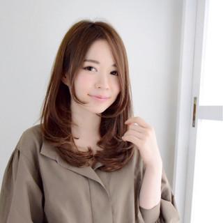 大人女子 大人かわいい フェミニン 前髪あり ヘアスタイルや髪型の写真・画像