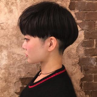 ベリーショート フリンジバング ショート 前髪あり ヘアスタイルや髪型の写真・画像