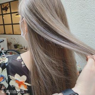 大人かわいい ロング エレガント ストレート ヘアスタイルや髪型の写真・画像