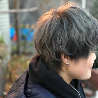 透明感カラー ショート モード グレージュ ヘアスタイルや髪型の写真・画像