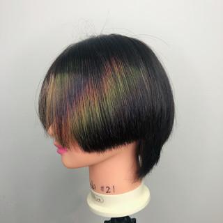 個性的 ウルフカット ハイトーンカラー ハイトーン ヘアスタイルや髪型の写真・画像