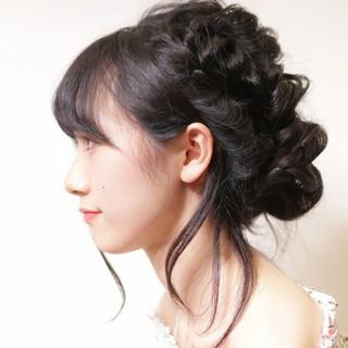 ヘアアレンジ 簡単ヘアアレンジ デート フェミニン ヘアスタイルや髪型の写真・画像