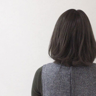 色気 ボブ アッシュ ナチュラル ヘアスタイルや髪型の写真・画像